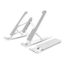 휴대용 노트북 스탠드 조절 가능한 알루미늄 컴퓨터 스탠드, 접이식 라이저용, 인체 공학적 통풍이 되는 데스크탑 노트북 홀더 MacBook 스탠드 노트북