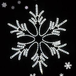 밧줄 빛 Xmas 장신구 새해 겨울 훈장을%s 가진 LED 눈송이
