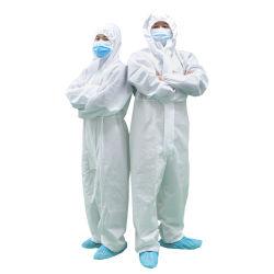 Wegwerfchemikalie/medizinischer/chirurgischer/Krankenhaus-/Labormantel-Kleid-mit Kapuze wasserdichter Typ 4/5/6 PP/PE/SMS/SBPP nicht gesponnener schützende Klage-Kleid-Kleidungs-Overall