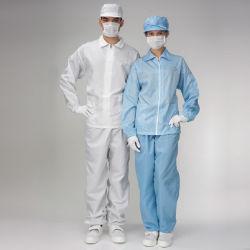 ESD salas limpias de Prendas de Vestir ropa limpia, pantalón y chaqueta de paño sin uniforme