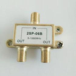 Répartiteur TV 2.6 g numérique 2 voies répartiteur CATV répartiteur d'intérieur