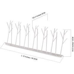 Uitrusting van de Aren van de Vogel van het polycarbonaat de Plastic met Zelfklevende Lijm