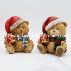 O Natal adorável Polyresin pintado à mão Estátua de artesanato ostentar Figurine Decoração