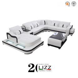 Le design italien de luxe moderne salle de séjour Meubles forme en U de coupe à LED