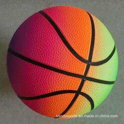 Kurbelgehäuse-Belüftung spielt aufblasbaren Farben-Drucken-Regenbogen-Basketball