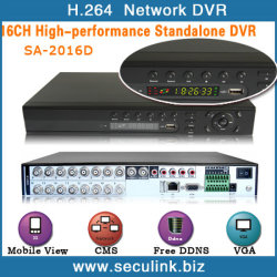 16ch H.264 압축 D1 독립 실행형 DVR(SA-2016D)