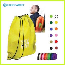 Écologique sac réutilisable de pliage coulisse coulisse sac à dos en nylon