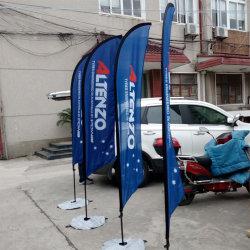 2.8M прочного стекловолокна флагштока пуховые ткань печать сад Promo флаг на размещение рекламы