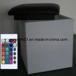 Würfel-Stuhl-Schemel RGB-wasserdichter LED