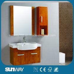 منصة مرايا مثبتة على الحائط وأثاث حمام من الخشب الصلب SW-OA007