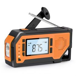 Radio portatile con display a LED multifunzione e torcia