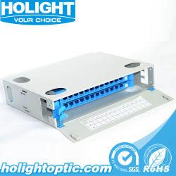 La fibre optique Distributioon Box/ châssis Panneau de raccordement de fibre de montage en rack
