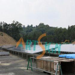 Suportes de tubos galvanizados a quente central de energia solar de 1 mw