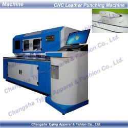 CNC de alta velocidad el orificio perforado de cuero pu hacer máquina de corte