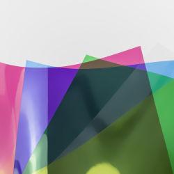 Van de kleur pvc- Blad voor de Dekking van het Notitieboekje