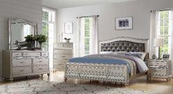 فضّة إنجاز خشبيّة غرفة نوم مجموعة مع [بو] لوحة رأسيّة لأنّ غرفة نوم مجموعة