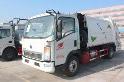 Sinotruk HOWO 4x2 가비지 콤팩터 트럭 폐기물 트럭 - 쓰레기 수집기입니다