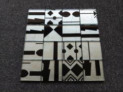 Mistura de prata mosaico de vidro de cor Preta de vidro de fundo TV Mosaico azulejos de parede