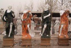 Cores misturadas natural Four Seasons esculturas de mármore (SY-C1092 Tensão)