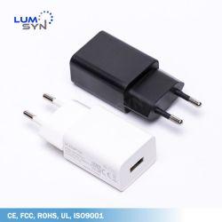 شاحن هاتف شاحن بطارية USB عالمي بقدرة 5 فولت 2 واط مع الاتحاد الأوروبي السدادة