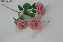 Fiore bianco di seta della Rosa dei fiori artificiali di nuova di disegno vendita calda della festa nuziale grande