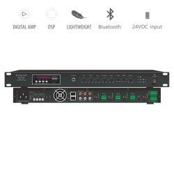 Amplificatore del miscelatore del Codice categoria-d del sistema 1u 120W di PA con USB/SD/Aux/Tuner/Bluetooth incorporato e la rete facoltativa Dante/di DSP disponibili al buon prezzo