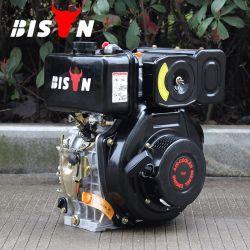 Motore diesel della singola asta cilindrica verticale del cilindro del bisonte (Cina), 170f motore diesel di modello, motore diesel chiave della pompa ad acqua di inizio 5HP