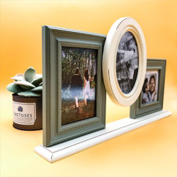 Salón de textura decoración bonita combinación de madera maciza el marco de fotos