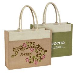 Sacs de jute, commerce de gros imprimés promotionnels personnalisés vert Eco recyclables Linge de Toile de Jute Jute Jute réutilisable de tissu de la plage d'épicerie Sac shopping fourre-tout
