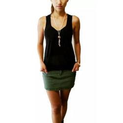 二重ファブリックヨガのベストのTシャツの体操の実行のY字型の女性のタンクトップ