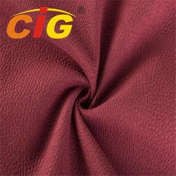 Breedte 145cm van het gewicht 520GSM het Afgedrukte Suède van de Polyester van 100% Goud