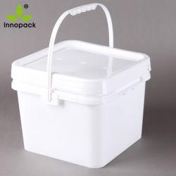 2 غالون مانعة للتسرب، سكة بلاستيكية مربعة، مقبض بلاستيكي
