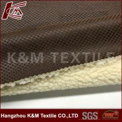 Novo design Suede Cordeiro Lã tecido colado para casaco de Inverno