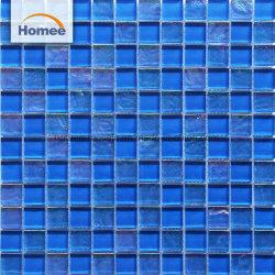 Malasia Mezclar el color azul piscina mosaico de vidrio de cristal
