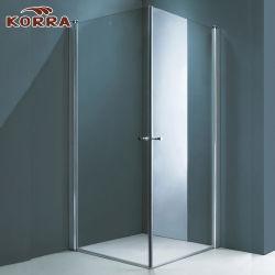 Las Puertas de ducha sin cerco de la esquina con eje de rotación-708K UN
