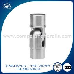 AISI304 /316 ミラー / ポリッシュ仕上げステンレススチール製フラッシュジョイナー(階段 / バルコニー / 手すり / パイプ / チューブコネクタ用)