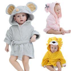Azo Gratis 100% Bamboo Cotton Lion Design Babybadhanddoek Low MOQ Custom Cute Kinderbadhanddoek met capuchon
