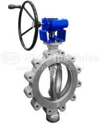 Norma API de aço fundido de alta qualidade de ferro fundido // Tipo de orelha em ferro dúctil Válvula Borboleta com a roda/pneumático/Motorized