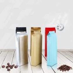 1kgaluminum 포일 부대는 기관에 의하여 주문을 받아서 만들어진 1회분의 커피 봉지를 위로 서 있다