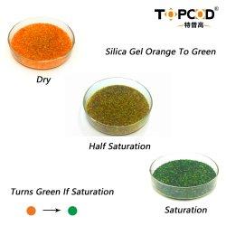中国産シリコーンゲル工場では、オレンジのシリカゲル生素材を供給しています 天然キャットリッター用ファイバーバッグ