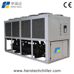 Refrigerado por aire y la refrigeración de 100 ton/Tr enfriadora de agua de tornillo para máquina de moldeo por inyección
