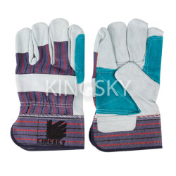 Mehrfach-Konzipiert Kuh-aufgeteiltes Leder-Doppelt-Palmen-Arbeits-Handschuh mit Cer-Bescheinigung