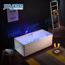 2 Pessoa Pequena sala de banho de banheira de hidromassagem com chuveiro de gavetas