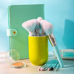 Etiqueta privada de la pieza de cabello sintético Eyeshadow 11 pinceles de maquillaje maquillaje labial Mascara Brush set