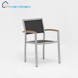 木製のArmrestが付いている方法傾向の網の金属のガーデン・チェアの屋外の家具