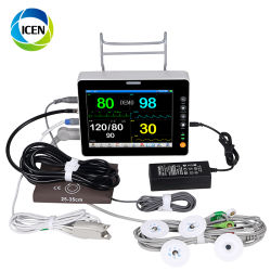 En-C004-1 machine médicale portable ambulance de diagnostic du moniteur patient sans fil