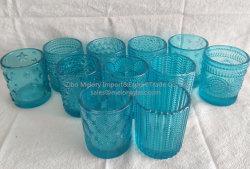 Cilíndrico de vidrio colorido Tealight Portavelas