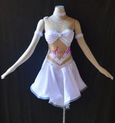 L'usura di ballo delle donne, guarnisce il vestito di frange latino, il vestito da Chacha di Rumba della samba di tango del vestito dalla salsa, vestito da ballo delle donne