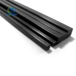 منتجات ألياف الكربون عالية النمطي المستطيلة بحجم 3 مم من ألياف الكربون القضيب