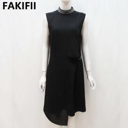 女性黒い袖なしビジネスプロムのオフィスの服装の服に着せている2021人の方法新しいデザイン女性
